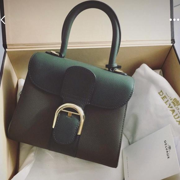 e61c5a495e delvaux Handbags - Delvaux Brillant Mini Bicolor Green Sellier Bag